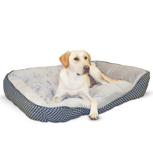 "K&H Pet Products Self Warming Lounge Sleeper Square Pet Bed Large Black 32"" x 40"" x 10"""