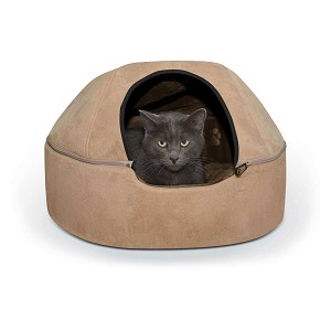 "K&H Pet Products Kitty Dome Bed Unheated Large Tan 20"" x 20"" x 13.50"""