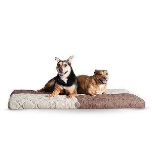 "K&H Pet Products Quilted Memory Dream Pad 0.5"" Medium Chocolate / Tan 27"" x 37"" x 0.5"""