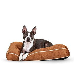 "K&H Pet Products Tufted Pillow Top Pet Bed Small Chocolate 20"" x 30"" x 7.5"""