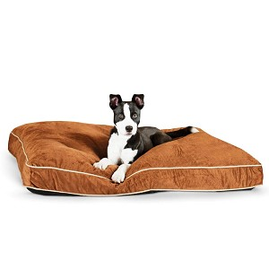 "K&H Pet Products Tufted Pillow Top Pet Bed Large Chocolate 35"" x 44"" x 7.5"""