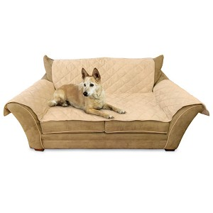 "K&H Pet Products Furniture Cover Loveseat Tan 26"" x 55"" seat, 42"" x 66"" back, 22"" x 26"" side arms"