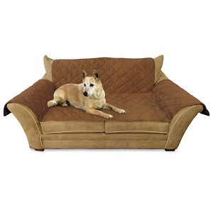 "K&H Pet Products Furniture Cover Loveseat Mocha 26"" x 55"" seat, 42"" x 66"" back, 22"" x 26"" side arms"