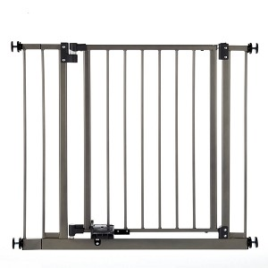"North States Slide-Step and Open Wall Mounted Steel Pet Gate Gray 28"" - 38.5"" x 29"""