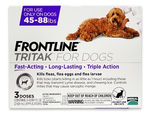 Frontline Tritak for Dogs 45-88 lbs, 3 Month